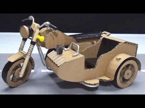 How to make 3 Wheel Motorcycle - Ural Motorcycle from Cardboard