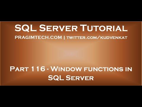 Window functions in SQL Server