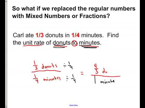 Unit Rates with Fractions and Decimals