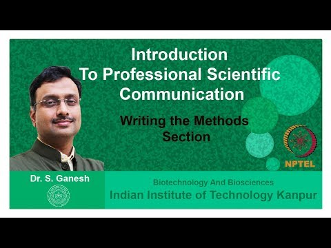 Lecture 12: Writing the Methods Section