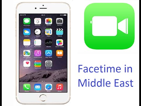Enable Facetime in middle east iOS 8 devices