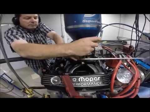 Mopar 340 W2 stroker 570 HP Dyno Session