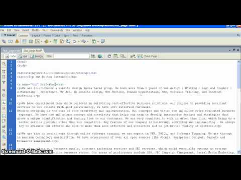 HTML Tutorials 12  How to create top and bottom