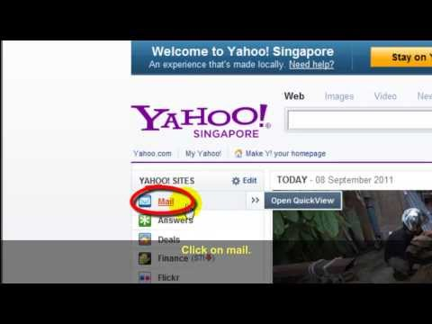 How to: Check emails in yahoo account