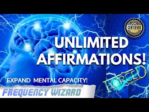 ABSORB UNLIMITED SUBLIMINAL AFFIRMATIONS!!! EXPAND YOUR MENTAL CAPACITY!  FREQUENCY WIZARD