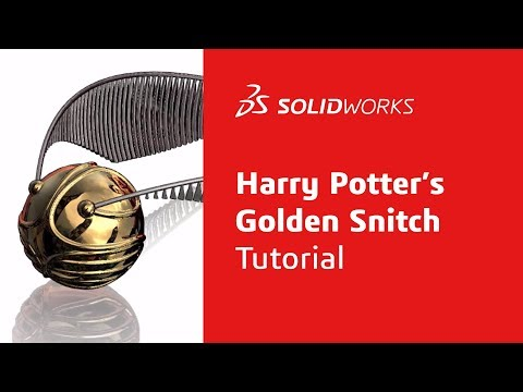 Harry Potter's Golden Snitch Tutorial - Part 4 - SOLIDWORKS