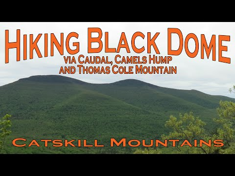 Hiking Black Dome via Caudal, Camels Hump and Thomas Cole Mountain - Catskill Mountains