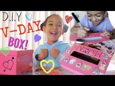 DIY Valentines Day Card Box!!!!