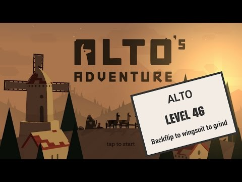 Alto's adventure - Backflip to wingsuit to grind - Level 46