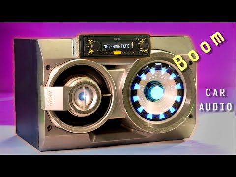 How to Convert a CAR AUDIO Into A Home-theater System - BoomBox