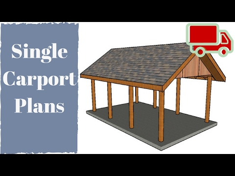 One Car Carport Plans