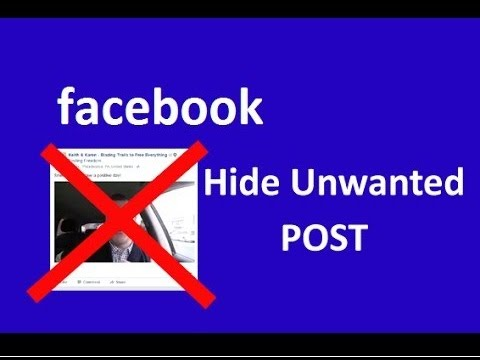 How to Hide or Block Facebook Posts | Unfriend Someone Without Actually Unfriending Them