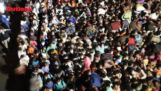 COVID-19   Migrant Workers Queue At Delhi Bus Terminals To Leave For Home