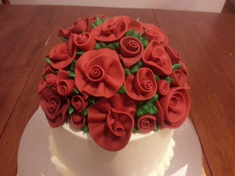 How to make a ribbon rose using gum paste