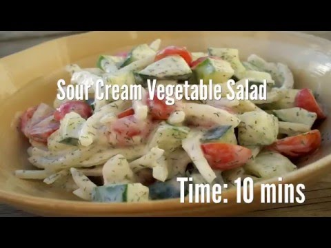 Sour Cream Vegetable Salad Recipe