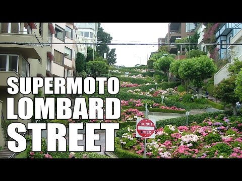 Lombard Street On A Supermoto - GoPro 4K