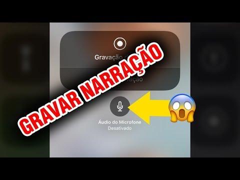 Gravar a tela do iPhone COM NARRAÇÃO no iOS 11