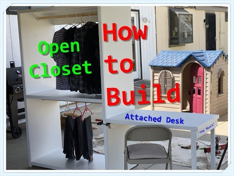 How to build a simple closet with an attached desk