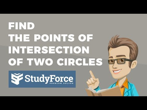 📚 How to find the points of intersection of two circles