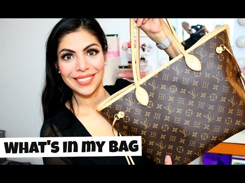 What's In My Bag Louis Vuitton Neverfull MM & Review