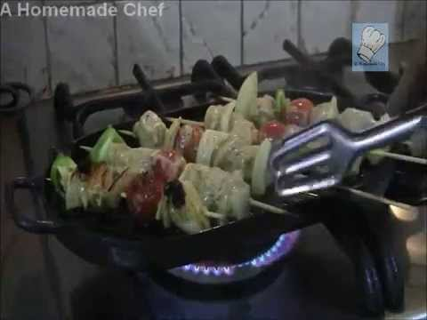Stove Top Homemade Chicken Kebab recipe - Middle Eastern food