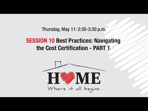 2017 Housing Forum webcast: Navigating the Cost Certification, Part 1