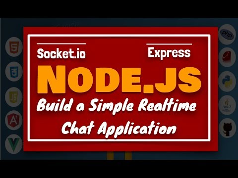 Node JS Tutorial: Lets create a simple realtime chat app using express & socket.io in English