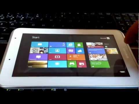 Test av Windows 8 på tablet