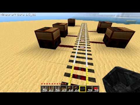 Minecraft Detector Rail Activated Note Blocks