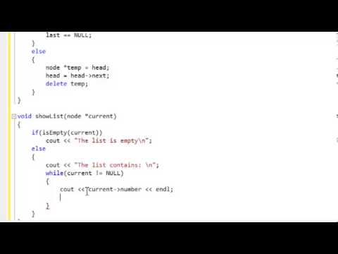 C++ Tutorial: Linked Lists, adding, removing, displaying