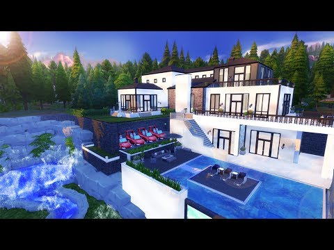 CALIFORNIAN MEGA MANSION l Sims 4 Speed Build