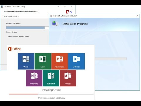 How to Install MS Office 2003, 2007, 2010, 2016 On Same PC (All Office)-Hindi