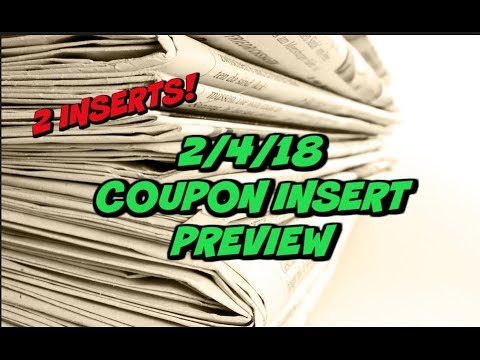 **EARLY PREVIEW**  2/4/18 COUPON INSERTS ~ 2 Inserts This Week!