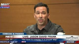 watch green ranger actor jason david frank speaks after gunman arrested at comicon