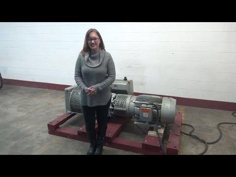Busch Rotary Vane Vacuum Pump Demonstration