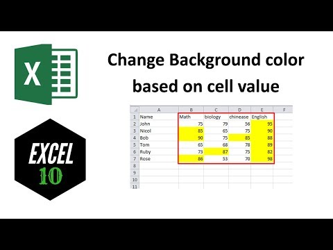 How to Change Background Color Based on Cell Value in Excel?