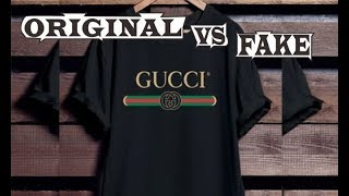 800f2777bf39 How To Spot Fake Gucci Logo Washed T-Shirt Authentic vs Replica ...