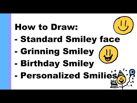 How to draw Different Types of Smileys (cartoon happy faces)