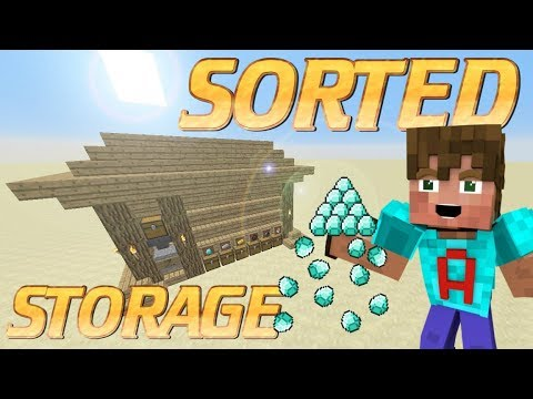 How to Make an Item Sorter in minecraft | Minecraft Automatic Storage System | Redstone Tutorial