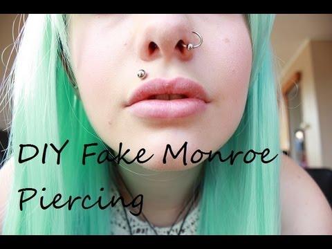 DIY Fake Madonna/Monroe Piercing