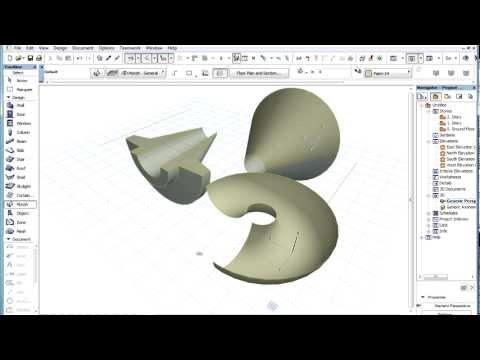 The ARCHICAD MORPH Tool - Creating a Revolving MORPH Shape