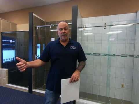 Chris @ Absolute Shower Doors talks about shower curb/saddle pitch
