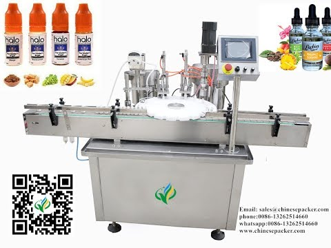 Nicotine Liquid filling plugging and capping machinery for 30ml E-liquid Filling Line