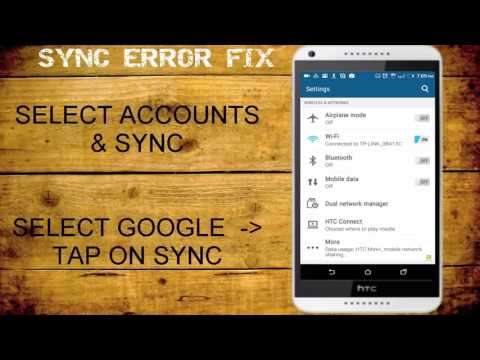 How to fix Google Sync error on Andriod Device