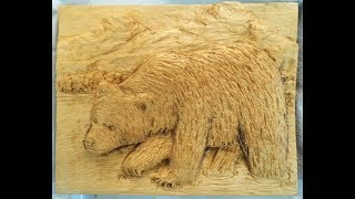 C dubeau sculptor woodcarver st jovite quebec relief
