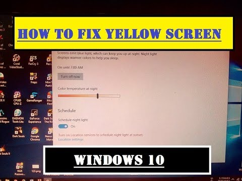 How to Fix Yellow Screen On Windows 10 - Problem Solved