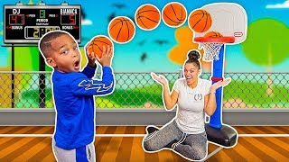 The Best 4 Year Old Basketball Player vs Mom