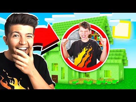 5 WAYS TO PRANK YOUR LITTLE BROTHER'S MINECRAFT HOUSE!