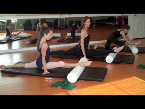 Over Splits - Pilates for ballet with foam roller & theraband- flexibility , stretching