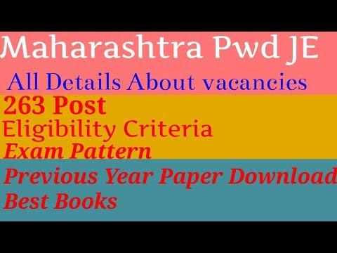 Maharashtra Pwd JE civil Vacancies Details, Exam pattern, Syllabus, Best Books, Exam Dates